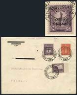 """PERU: Yvert 1a, """"El Marinerito"""", 1927 50c. INVERTED OVERPRINT Variety + Other Values, Franking An Airmail Cover Sent Fro - Peru"""