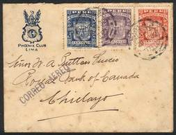 PERU: Yvert 271/2 + A.3, 1932 Piura 400th Anniv., Complete Set Of 3 Values On A Cover Flown From Lima To Chiclayo On 29/ - Peru