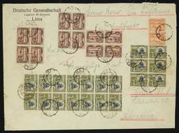 PERU: Yvert 61, 1938 10S. Crypt Of The Heroes, 20 Examples (blocks Of 6 And 14) + 60 X12 + 53 X2, On A Large Registered  - Peru