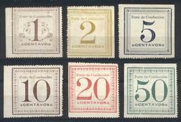 PERU: Sc.Q1/Q6, 1897 Complete Unused Set Of 6 Values, VF Quality, Very Rare! - Peru