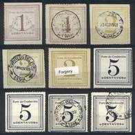 PERU: Sc.Q1/Q3, 1c. Mint And Used + 2c. Used X2 (different Colors) And One Forged Example + 5c. X2 Mint And 2 Used, All  - Peru