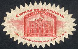 PERU: Old Official Seal, Mint With Gum, Fine Quality! - Peru