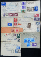 ROMANIA: 12 Covers Sent To Argentina With Very Thematic And Handsome Postages, Some With Minor Defects, Low Start! - Romania