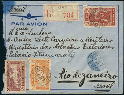 SENEGAL: Registered Airmail Cover Franked With 20.75Fr. (Sc.C8 + C11 + Another Value), Sent From Dakar To Rio De Janeiro - Senegal (1960-...)