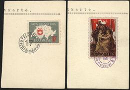 SWITZERLAND: 2 Interesting Cinderellas Of Military Post, On Fragments, VF Quality! - Switzerland