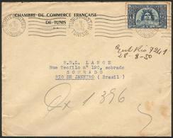 TUNISIA: Cover Sent To Brazil On 28/JUL/1950, Unusual Destination! - Tunisia (1888-1955)