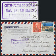 "VENEZUELA: Auxiliary Handstamp ""CENTRO POSTAL DE CARACAS - MAL ENCAMINADA - A VENEZUELA"" Applied On A Cover Sent From Sp - Venezuela"