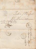 Chiaromonte. 1870. Annullo Doppio Cerchio CHIAROMONTE, Su Lettera In Franchigia, Completa Di Testo - Marcofilie