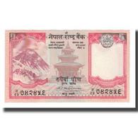 Billet, Népal, 5 Rupees, Undated (1987- ), KM:30a, NEUF - Nepal