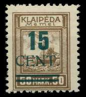 MEMEL 1923 Nr 234I Ungebraucht Gepr. X881F7E - Memel