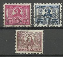 POLEN Poland 1923 Michel 182 - 184 Nikolaus Kopernikus Copernik O - Celebrità