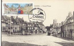 Cassel Nord 59 Carte Maximum Sur CPA - FDC Premier Jour - Flandre Dunkerque Hazebrouck Lille - Cartes-Maximum