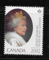CANADA. 2012, MNH   #2518   QUEEN ELIZABETH DIAMOND JUBILEE - Blocks & Sheetlets