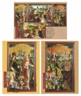 LIECHTENSTEIN 2014 Winged Altar: Set Of 3 Maximum Cards CANCELLED - Cartoline Maximum