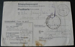 1944 POSTALCARD OF ITALIAN  PRISONER OF WAR_CARTOLINA POSTALE DI PRIGIONIERO DI GUERRA ITALIANO - Prigione E Prigionieri