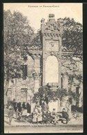 CPA Besancon, Le Square Saint Jean-Vestiges Romains - Besancon