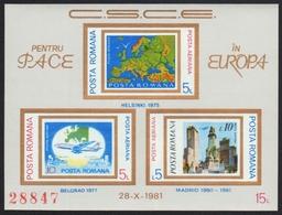 Rumänien 1981 - Mi-Nr. Block 183 ** - MNH - Europa - KSZE - 1948-.... Republiken