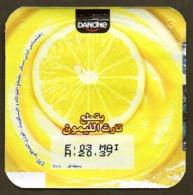 "Opercule Cover Yaourt Yogurt "" Danone "" Citron Lemon Yoghurt Yoghourt Yahourt Yogourt - Koffiemelk-bekertjes"