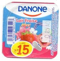 "Opercule Cover Yaourt Yogurt "" Danone "" Lait Fraise 15 DA Yoghurt Yoghourt Yahourt Yogourt - Milk Tops (Milk Lids)"
