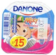 "Opercule Cover Yaourt Yogurt "" Danone "" Lait Fraise Mixy 15 DA Yoghurt Yoghourt Yahourt Yogourt - Koffiemelk-bekertjes"