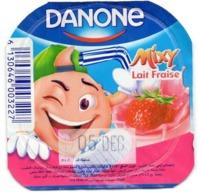 "Opercule Cover Yaourt Yogurt "" Danone "" Mixy Lait Fraise Yoghurt Yoghourt Yahourt Yogourt - Milk Tops (Milk Lids)"