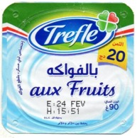 "Opercule Cover Yaourt Yogurt "" Trèfle "" Aux Fruits New Design Yoghurt Yoghourt Yahourt Yogourt Opercules - Opercules De Lait"