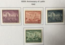 POLAND - MH* -  1942 - # NB15/18 - 1939-44: 2. WK