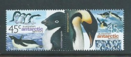 Australian Antarctic Territory 2000 45c Penguins Se Tenant Pair MNH - Australian Antarctic Territory (AAT)