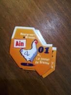 Magnet Le Gaulois Nouveau Département 01 AIN BOURG EN BRESSE Le Poulet De Bresse - Magnets