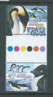 Australian Antarctic Territory 2000 45c Penguins Gutter Pair MNH , Small Gum Knock In Gutter - Unclassified