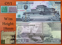 North Korea 500 Won 1998 UNC Not Listed In The Catalogue - Korea, North