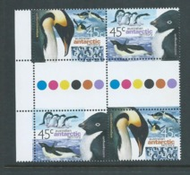 Australian Antarctic Territory 2000 45c Penguins Se Tenant Gutter Block Of 4 MNH - Territoire Antarctique Australien (AAT)