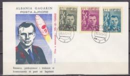 1962Albania642-44 FDCFlight Vostok 1 With Gagarin 25,00 € - FDC & Commémoratifs