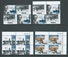 Australian Antarctic Territory 1999 Mawson Huts Set 4 X 4 In Blocks Of 4 MNH - Unused Stamps