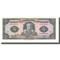 Billet, Équateur, 5 Sucres, 1988, 1988-11-22, KM:113d, NEUF - Equateur