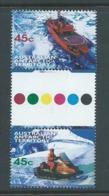 Australian Antarctic Territory 1998 Transport 45c Gutter Pair MNH - Unused Stamps