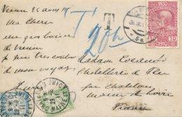 Sautoskal (Hongrie) Carte Photo D'une Maison D'un Expatrié Français - Paon Naturalisé - Carte Taxée En France 5 Et 15 C - Hongrie