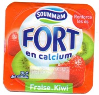 "Opercule Cover Yaourt Yogurt "" Soummam "" FORT "" Fraise Kiwi New DesignYoghurt Yoghourt Yahourt Yogourt - Opercules De Lait"