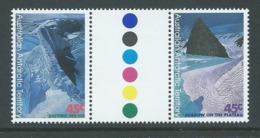 Australian Antarctic Territory 1996 Landforms 45c Gutter Pair - Unused Stamps
