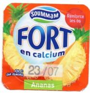 "Opercule Cover Yaourt Yogurt "" Soummam "" FORT "" Ananas Pineapple New DesignYoghurt Yoghourt Yahourt Yogourt - Opercules De Lait"
