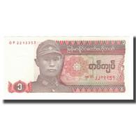 Billet, Birmanie, 1 Kyat, Undated (1990), NEUF - Myanmar