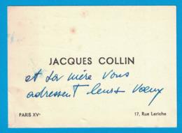 JACQUES COLLIN 17 RUE LERICHE PARIS - Visiting Cards