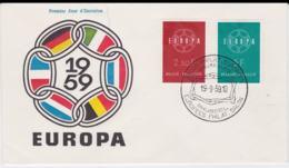 Belgium 1959 FDC Europa CEPT (G76-145) - 1959