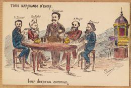 Poli098 Peu Commun DARSANE Satirique Presse Tous Marchands Encre SIMOND ROCHEFORT CASSAGNAC MEYER DRUMONT 1900s - Satiriques