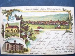 Suisse  ,les Verrières ,souvenir De 1898..     ....petites Marques Verso Bas - Schweiz
