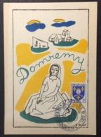 CM306 Carte Maximum Domrémy Fêtes De Jeanne D'Arc 20/5/1956 - Cartes-Maximum