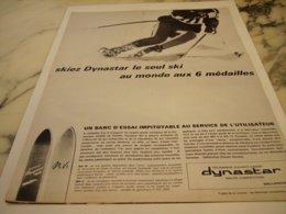 ANCIENNE PUBLICITE C EST LE SKI DYNASTAR 1966 - Sports D'hiver