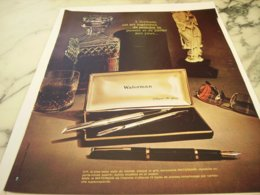 ANCIENNE PUBLICITE ECRITURE  STYLO WATERMAN  1966 - Other Collections