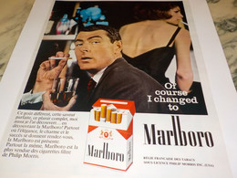 ANCIENNE PUBLICITE  OF COURSE I CHANGED TO MARLBORO  1966 - Other
