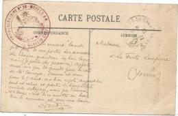 SEINE ET MARNE CARTE FONTAINEBLEAU  1917 CACHET ROUGE HOPITAL AUXILIAIRE N°26 MORET S M LE MEDECIN CHEF - Marcophilie (Lettres)